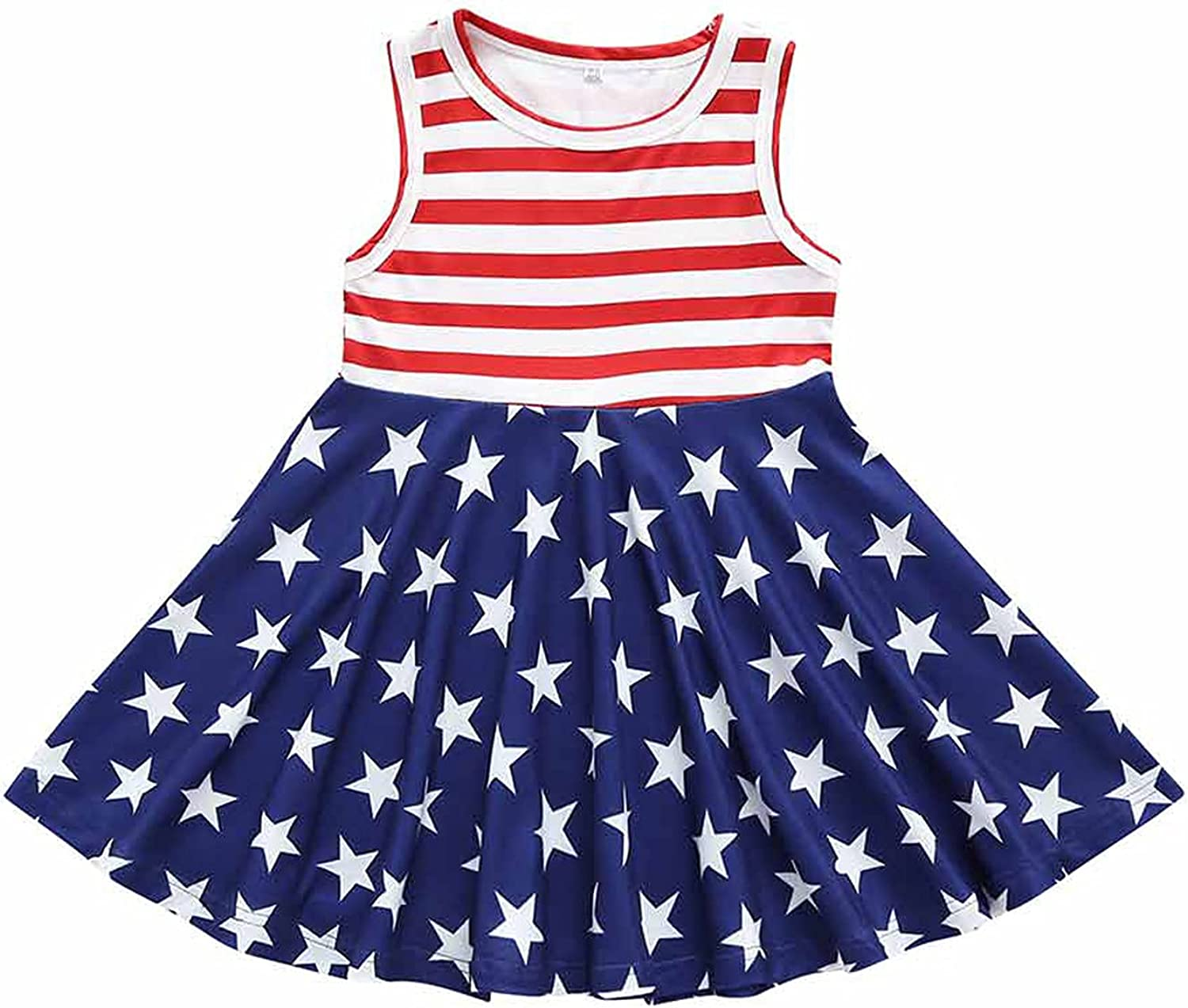 Some reservation Toddler Baby Little Girls 4th Sleeveless American Outfit July Selling of