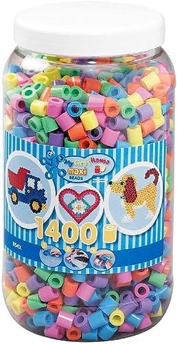 Hama - 8541 - Loisirs Créatifs - Pot 1400 Perles à Repasser - Taille Maxi - Pastel