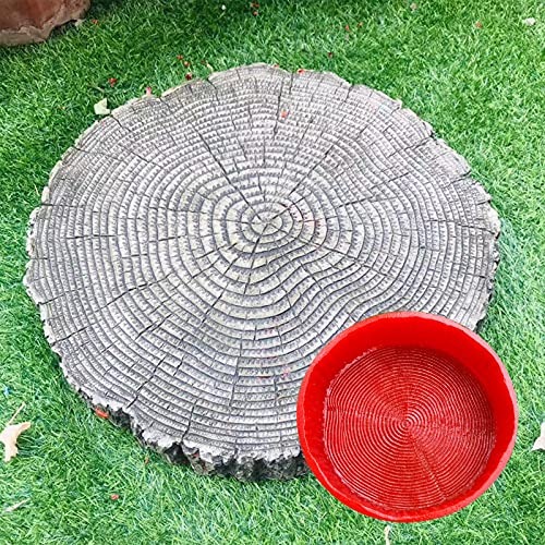 Zhao Li Molde de Piedra de Goma de Grano de Madera de 45 cm, moldes de Cemento de hormigón Reutilizables pasarelas de Bricolaje,Fabricante de senderos decoración de jardín, para césped de Patio