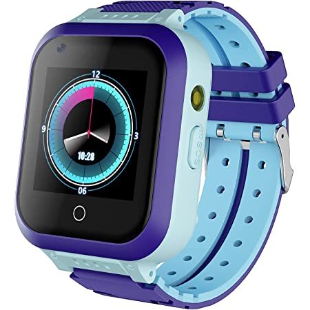 Kids Smart Watch, 4G WiFi GPS LBS Tracker SOS Emergency Call Video Chat Children Smartwatches, IP67 Waterproof Phone Watch for Age 4-12 Boys Girls, Compatible with Android/iPhone iOS (Blue)
