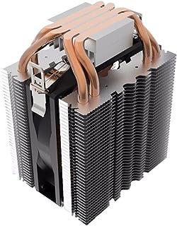 Prosperveil 4pcs Heatpipe Radiador Azul LED Hidráulico Cojinete CPU Cooler Ventilador Disipador de Calor