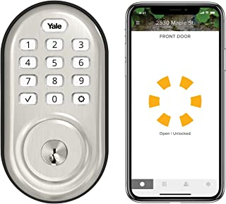 Best Yale Assure Lock Keypad - Wi-Fi Smart Lock - Works with Amazon Alexa, Google Assistant, HomeKit, Phillips Hue and Samsung SmartThings, Satin Nickel Review