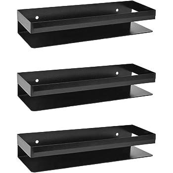 "Plantex High Grade Metal Multi-Purpose Shelf - Bathroom Shelf - Kitchen Shelf 14"" X 5"" inches - Wall Mount - Pack of 3"