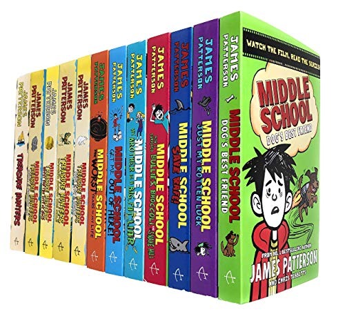 James Patterson Middle School and Treasure Hunters Collection 12 Books Set