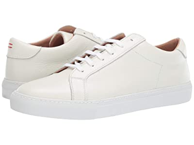 eleventy Leather Lace-Up Sneaker (White) Men
