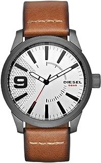 Men's DZ1803 Rasp Gunmetal IP Brown Leather Watch