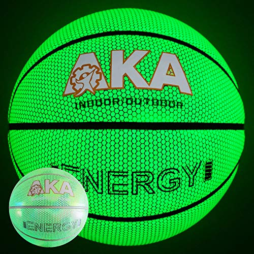 Fantastic Deal! AKA Glowing Leather Basketball --Natural Glowing Basketball without Battery