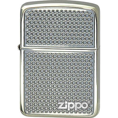 ZIPPO(ジッポー) オイルライター 1941 レプリカ グリルメッシュ 両面加工 シルバー