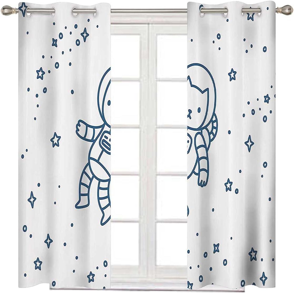 Kids Grommet Curtains Dark OFFicial site Super-cheap Window Blue Blackout