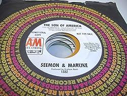 SEEMON & MARIJKE 45 RPM The Son Of America / Vegetable Stew