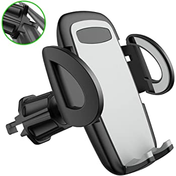 Auto-Retractable Hands Free Gravity Car Phone Mount, Gravity Air Vent Black Cell Phone Holder for Car,Universal Car Phone Holder Compatible for iPhone 11 Pro//Xs MAX//XR//X//8 and Galaxy S10e//S10 Plus