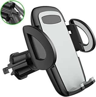 Car Phone Mount, Air Vent Cell Phone Holder for Car, Car Phone Stand Compatible with iPhone 11/11 Pro/Xs/XS Max/8/7/ 6, Samsung Galaxy S10/S10+/S9/S9+/S8, Note 10 9, Pixel 3 XL and Other Phones