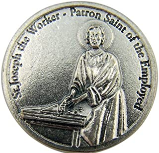 Catholic Archangel Saint St Joseph the Worker Patron of the Employed Pocket Token