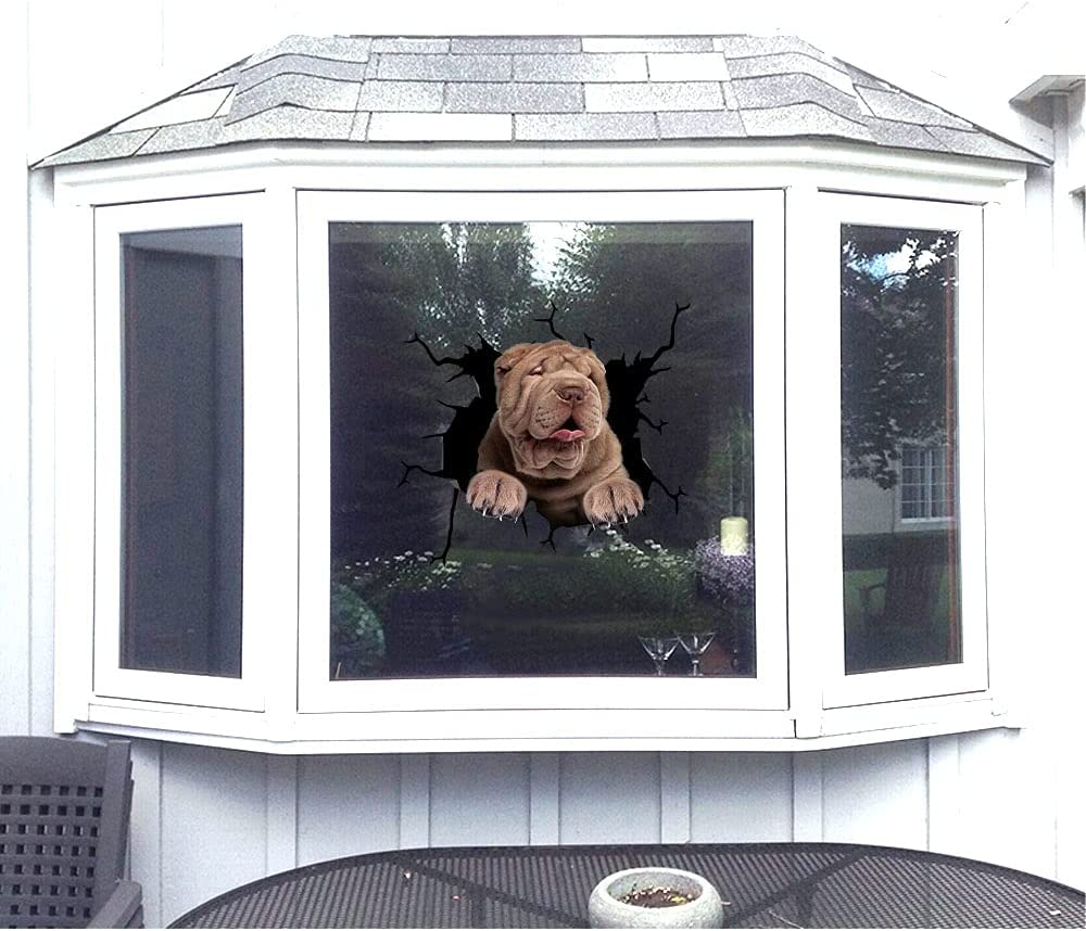 5 pcs Shar Pei Cheap bargain Decal for Home Bu Wall Decor Owner Gift Dog Popularity