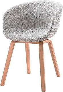 AJZGFSilla de Comedor, Silla de Cocina Sillones de Madera Maciza, Modernos sillones Minimalistas, sillas de computadora y sillas de Oficina de Moda Casual. (Color : Light Grey)
