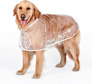 zhbotaolang Cute Dog Transparent Waterproof Raincoat Jacket Rainwear Clothes