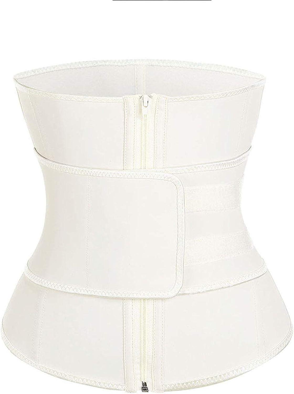 Stree Corner High Compression Zipper Latex Waist Trainer Belt Slimming Waist Body ShaperF,Waiat Trainer2,S,US