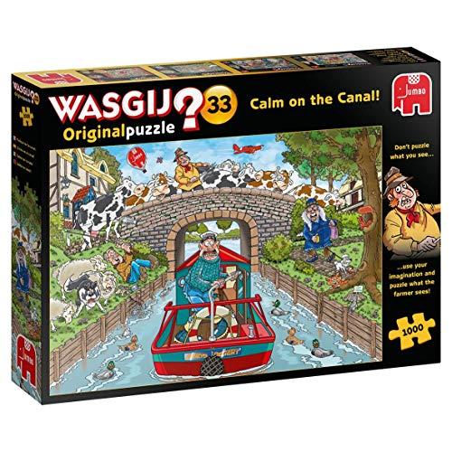 Jumbo JUM19173 Wasgij Original 33 - Calm on The Canal 1000 Piece Jigsaw Puzzle Zubehör