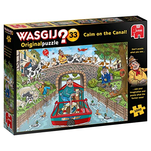 Jumbo Spiele GmbH JUM19173 Calm on The Canal Piece Jigsaw Puzzle Wasgij Original 33 (1000 Teile)