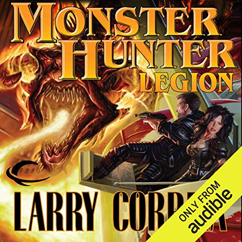 Monster Hunter Legion     Monster Hunter, Book 4              By:                                                                                                                                 Larry Correia                               Narrated by:                                                                                                                                 Oliver Wyman                      Length: 16 hrs and 59 mins     9,099 ratings     Overall 4.7
