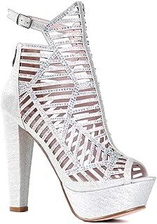 Bella Luna Women's Sexy Fashion Dress High Heel Peep Toe Wedding Pumps Shoes