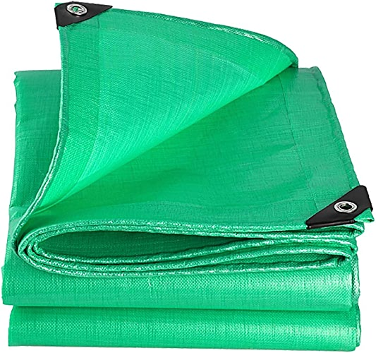 Baches Forte épaisse PE Imperméable Feuille Verte De Couverture De Qualité Supérieure pour Le Camping en Plein Air (Taille   6×10m)