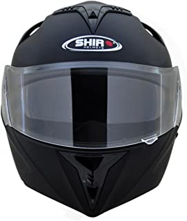 Shiro SH-119 Flip-up Full Face Helmet (Matte Black,L)