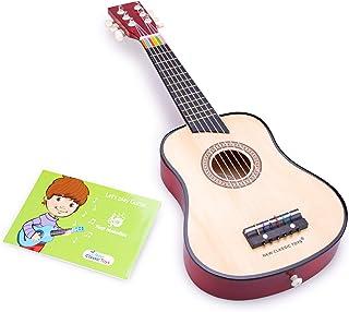 New Classic Toys Instrument de Musique pour débutants Guitare de Luxe avec Le Livre de Musique- Naturelle