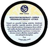 Soapwalla - Organic/Vegan Sensitive Skin Deodorant Cream (Citrus, Baking Soda Free)