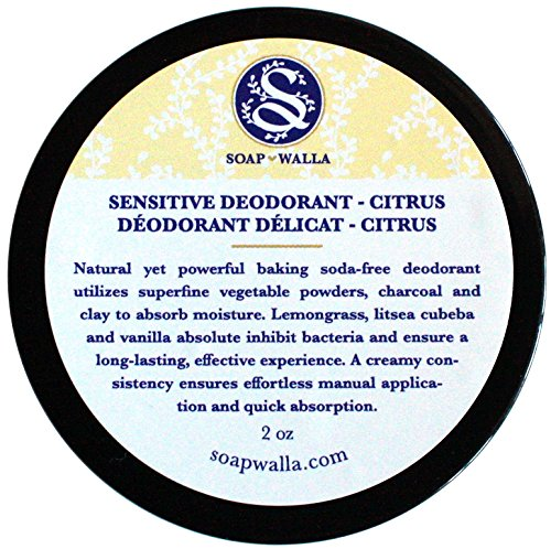 Sensitive Deodorant - Citrus - SOAPWALLA