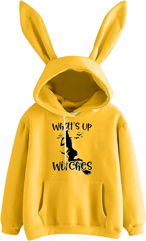 Women's Fashion Cosplay Rabbit Hoodie Sweater Print Long Sleeve