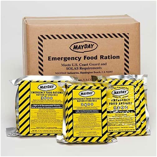 Mayday Food Bars Emergency 3600 Calorie Food Bars (20 per case) weight 39 lbs 3