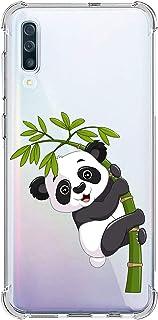 Suhctup Compatible con Samsung Galaxy A50 Funda para Silicona Transparente con Dibujos Panda Diseño Patrón Cárcasa Ultra-Fina Suave TPU Choque Cojín de Esquina Parachoque Caso-Panda 9