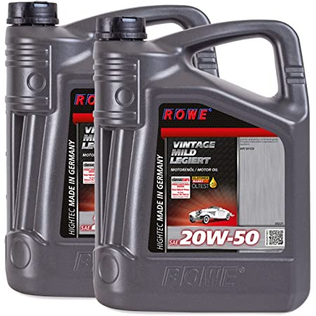 Rowe Hightec Vintage Sae 20w 50 Mild Alloy 5 Litre Vintage Car Youngtimer Engine Oil Mineral Made In Germany Auto