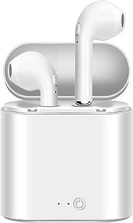 【Bluetooth 5.0 イヤホン】 完全ワイヤレスHi-Fi 高音質 片耳 両耳とも対応 ワイヤレスイヤホン マイク内蔵 通話 防水 自動ペアリング 充電式収納ケース付 ブルートゥース ヘッドホン iPhone、Android各種対応 技適認証済み (ホワイト)