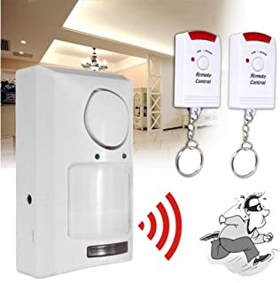 XGao Wireless Home Security Alarm PIR Infrared Sensor with 2 Remote Control Anti-Theft Motion Detector Alarm System for Home Business Shop Store Driveway Alert Bar and Garage