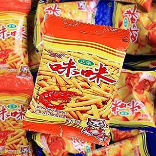 咪咪虾条、カニ味、スナックフード、ネットレッドスプリー、スナック、スナック中国零食【18g * 40パック】 (エビの味40包)