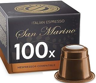 San Marino, 100 Capsules, Organic, Nespresso Compatible, by REAL COFFEE, Denmark