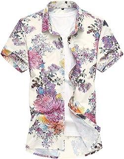 NOBRAND Jinyuan 5XL 6XL 7XL Shirt Men Summer Personality Printed Short Sleeve Shirts Men 2020 Casual Plus Size Beach Hawai...