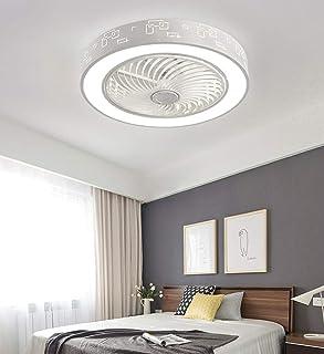 PIANUO Moderno Ventilatori da Soffitto con Lampada 40W Lampada a Ventola a Soffitto 50cm Luce a Traditore Dimmable con Telecomando per Soggiorno Camera da letto Cucina