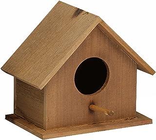 XQF Cabane A Oiseaux Nichoirs Mésanges Maison d'oiseaux Mésanges Moineaux Cabane en Bois Nichoir à Oiseaux en Bois Mangeoi...