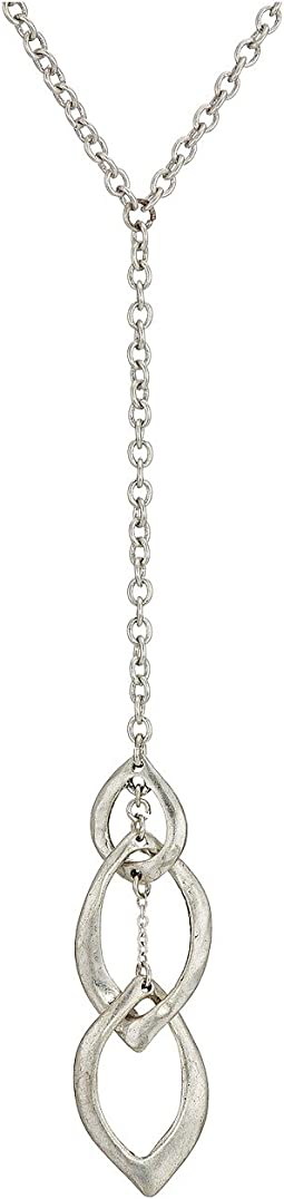 Linked Petal Y-Necklace 26""