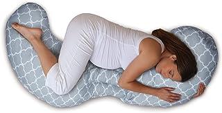Boppy - Cojín de embarazo modular 3 piezas de algodón, máxima adaptabilidad, color gris