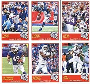 2019 Panini Score Football Veteran Buffalo Bills Team Set of 10 Cards: Josh Allen(#122), LeSean McCoy(#123), Chris Ivory(#124), Zay Jones(#125), Robert Foster(#126), Tremaine Edmunds(#127), Lorenzo Alexander(#128), Matt Milano(#129), Tre'Davious White(#13