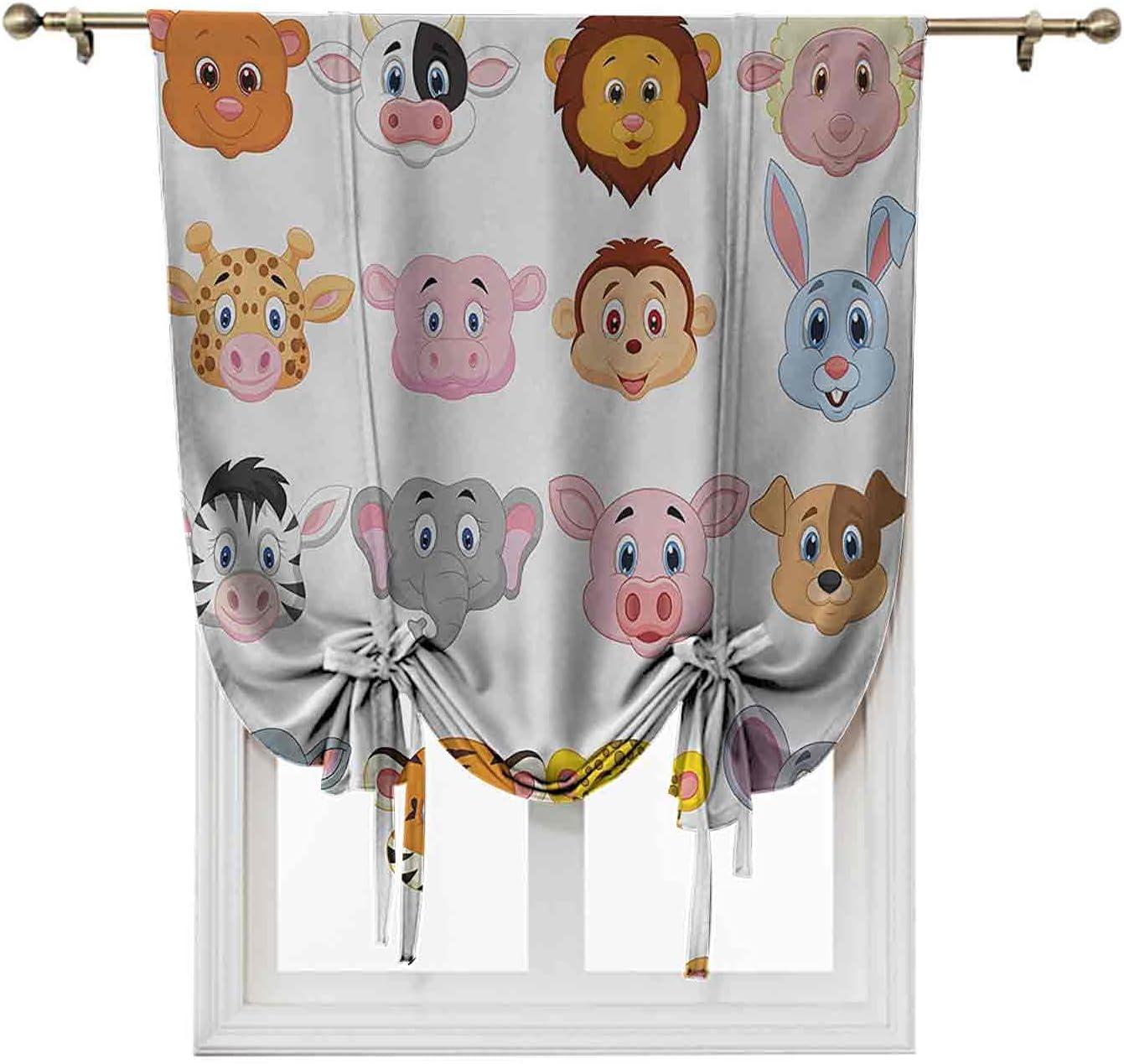 Cartoon Door Curtains Large-scale sale Adjustable Valance Fees free!! Kids Balloon Th Blind