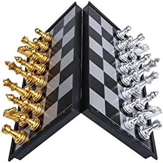 Qlisytpps Handmade Royal European Tournament Chess Set for Adults Unique Chess Board Set Game 12.6 Inch Board Travel Chess...