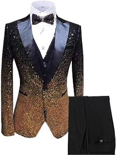 mens gold sequin suit