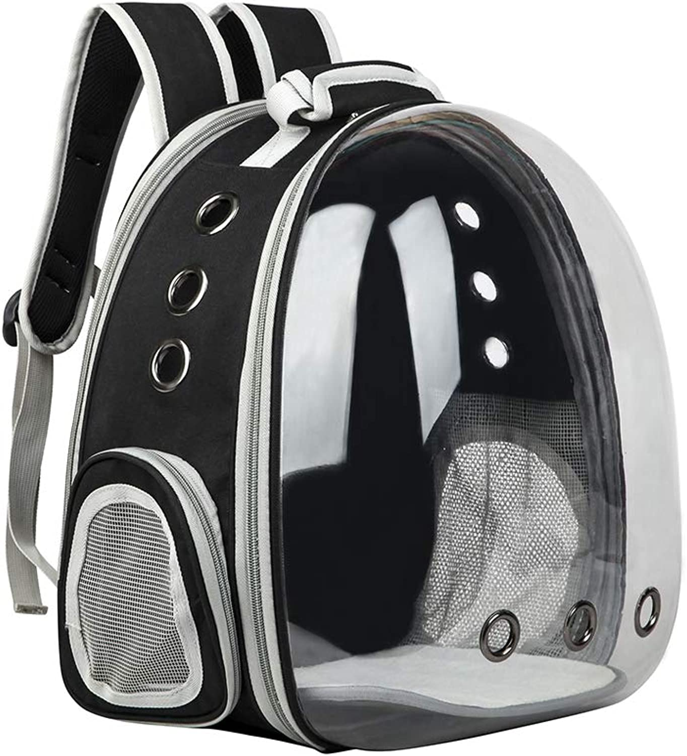 JAGETRADE Transparent Pet Carrier Waterproof Puppy Travel Bag Breathable Space Capsule Backpack for Cat Dog