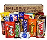 VINTAGE CANDY CO. CHOCOLATE LOVERS FULL SIZE CANDY BAR SNACK GIFT BASKET - PERFECT For Adult,...