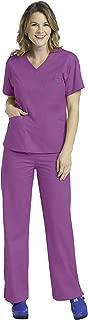 Med Couture Signature Women's Scrub Set Bundle- 8403 V-Neck Top & 8705 Pant